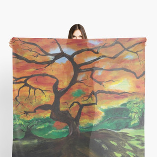 Fall Trees on Scarf