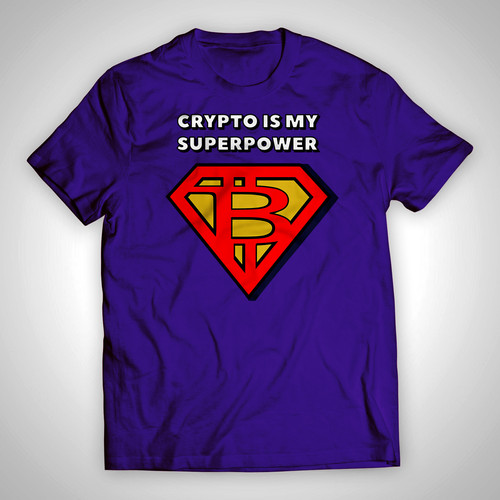 c7418d96b Crypto Superpower Vintage T-Shirt   Cool Bitcoin T-Shirt