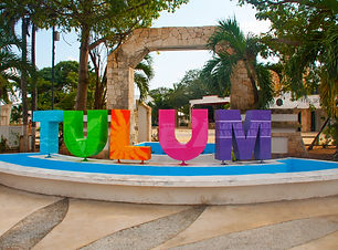 TULUM MEXICO_ Outdoor view of huge color