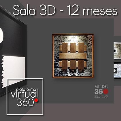 Sala 3D (Plataforma Virtual 360º) - Exposición 12 meses