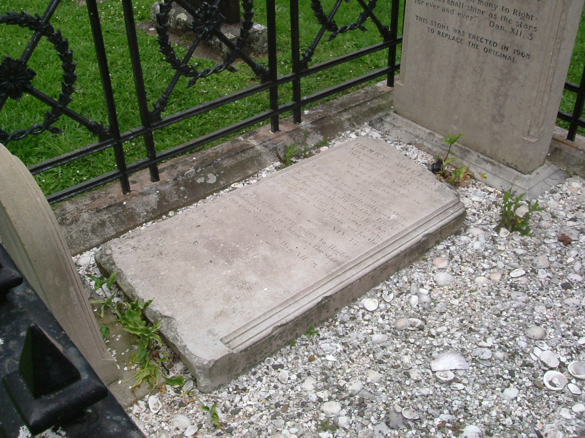 HENRY WILLIAMS' TOMBSTONE
