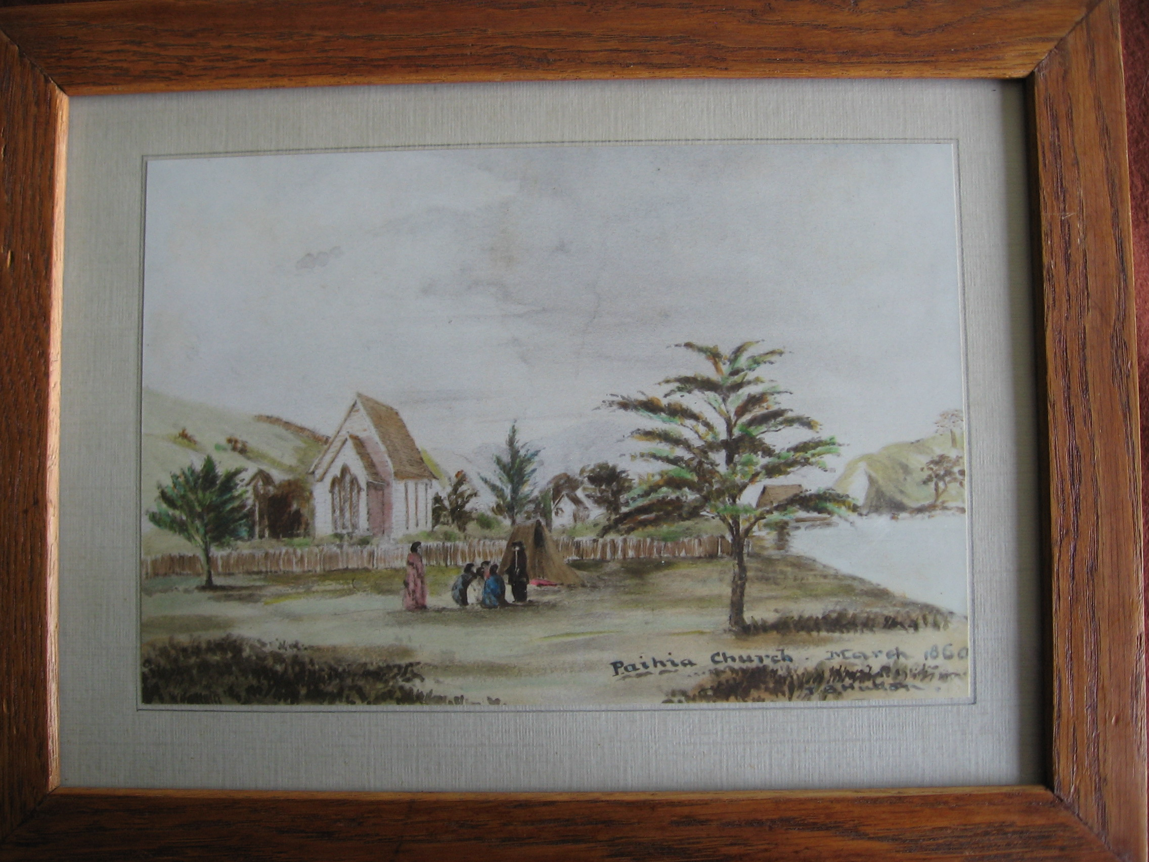 PAIHIA CHURCH WATERCOLOUR