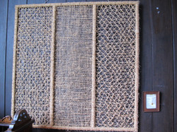 Weaving 'Holy Trinity' in church