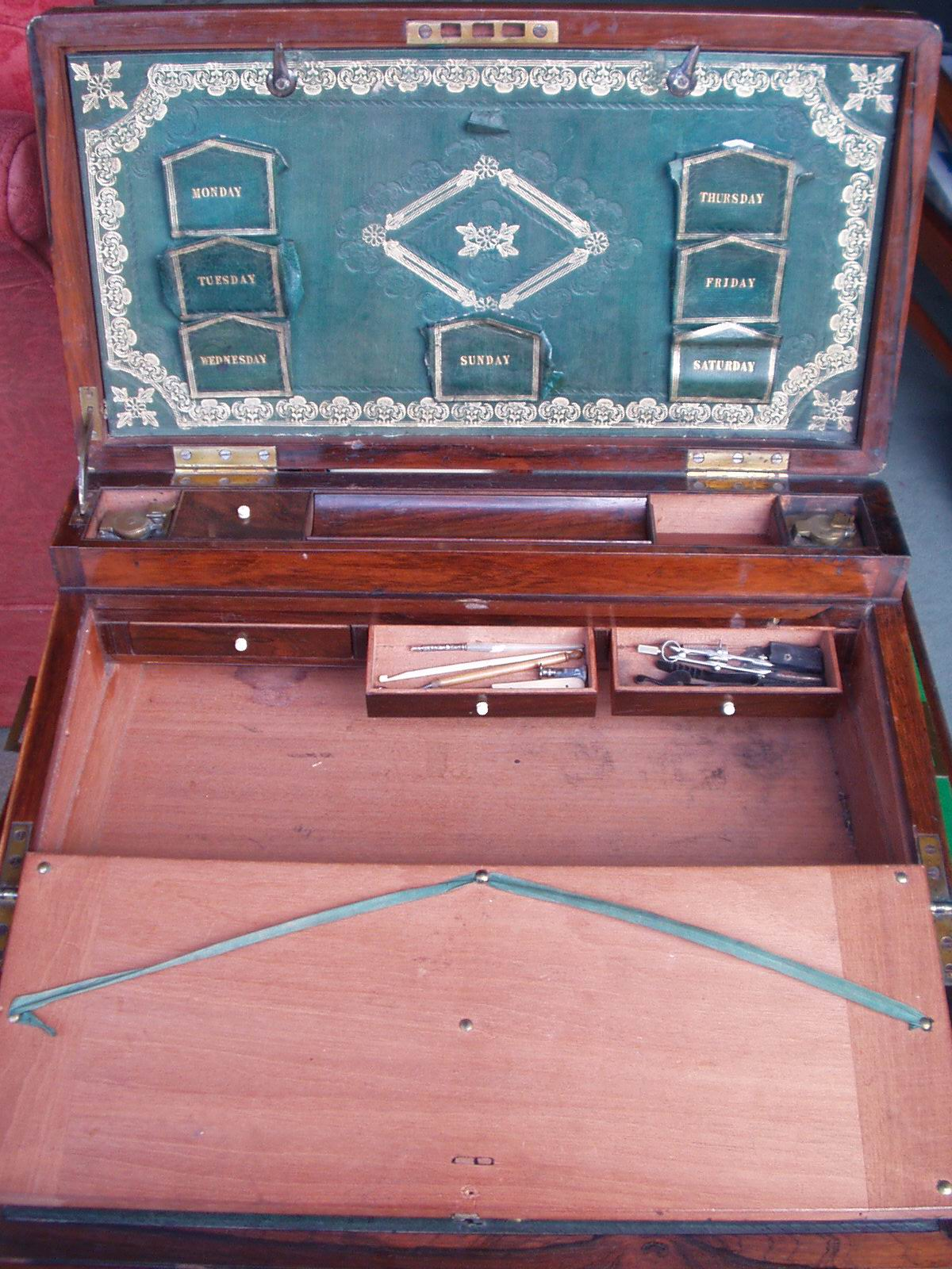 desk drawers and implements