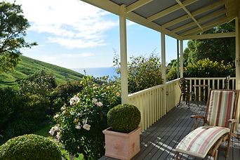 View from the Paua Bay Farmstay verandah
