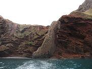Cliffs along Akaroa Harbour
