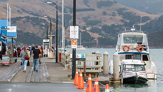 Akaroa wharf where crusie ships tenders land