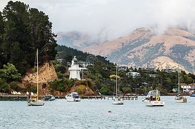 Akaroa harbour and lighthouse
