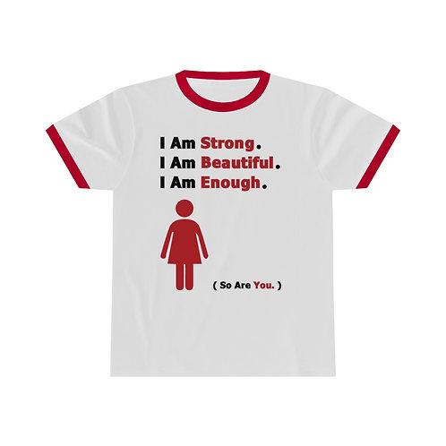 I Am Enough  //  Unisex Ringer Tee