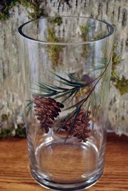 Pinecone Glass Vase