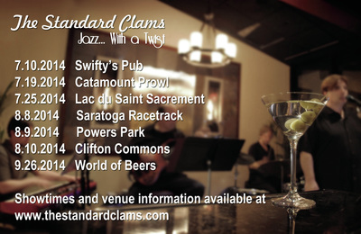 The Standard Clams Gig Card