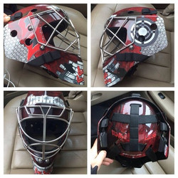 Hockey Goalie Helmet Wrap Art