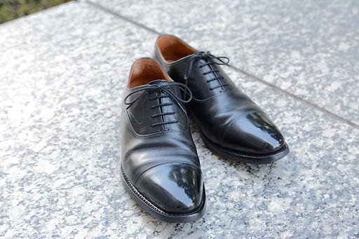 靴磨き 鏡面