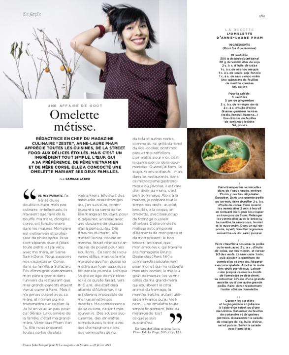 M le Magazine du Monde, février 2015.