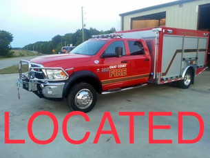 Gray Court Fire Department Truck Theft