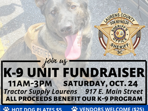 K-9 Unit Fundraiser This Saturday (10/24)