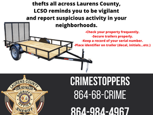 Recent Utility Trailer Thefts