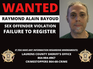 LCSO Seeks Man for Failure to Register
