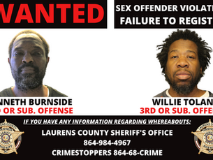 Two Wanted for Failure to Register