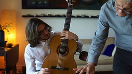 Francisco Burgos and student Daniel Gonz