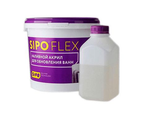 SIPOFLEX-24 Жидкий акрил для ванн БЕЛЫЙ