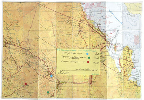Manal AlDowayan, 'Crash - Quwaiyah Map', 2014