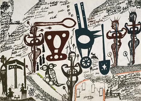 Carlo Zinelli, 'Cocodrilo cuatro', 1971