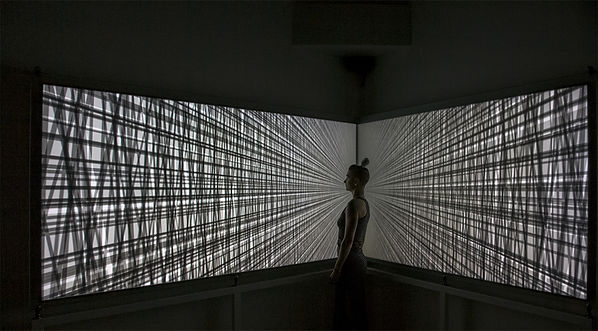 Rafael Lozano-Hemmer, 'Vanishing Points', 2018. Foto de Miguel Legault