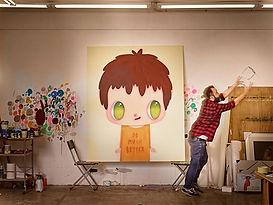 Preparando la exposición. Fotografía de José Luis Gutierrez