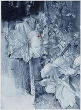 Julio Vaquero, 'Flores blancas con leves manchas de cárdeno', 2019