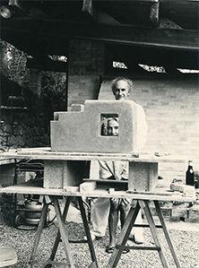 Chillida y Pili en Grasse, 1985