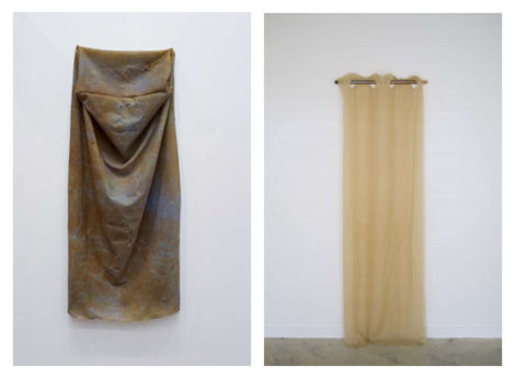 Bianca Bondi, 'Hanging Rock Bottom', 2018 y 'Corroded Pipe Piece (Curtain)', 2017