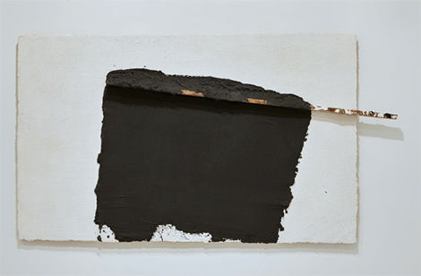 Angel Alonso, 'White with traces of black and wood', 1989-1990