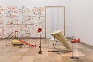 """Teresa Solar, vista parcial de la instalación 'Blind Faith"""" en Haus del Kunst Munich, 2018"""