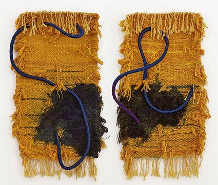 Josep Grau-Garriga, 'Diptych', 1980,  lana y jute, 120 x 127 cm