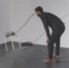 Juan Manuel Rodríguez, 'Sosteniendo la pintura'