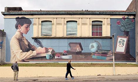 Mural de Theic, integrante del Colectivo Licuado