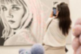 Art Madrid 2019. Foto de Ione Adán. Imagen con obra de Pepa Salas