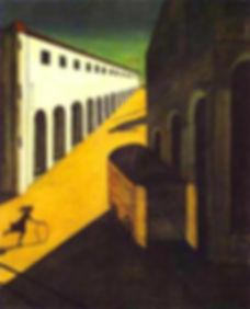 G. de Chirico, 'Misterio y melancolía de una calle', 1914