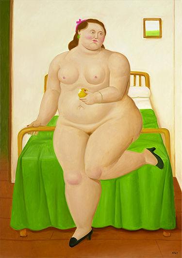 Fernando Botero, 'The Bedroom'