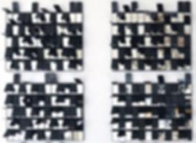Detalle de obra en la muestra