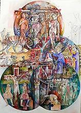 Felipe Alarcón, 'Crucifixión del Arte', serie 'Renacimiento de la Utopía', 2019