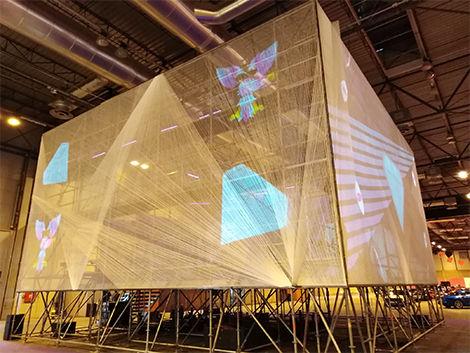 'Creative Communion Cube', instalación colaborativa de dibujo en realidad aumentada