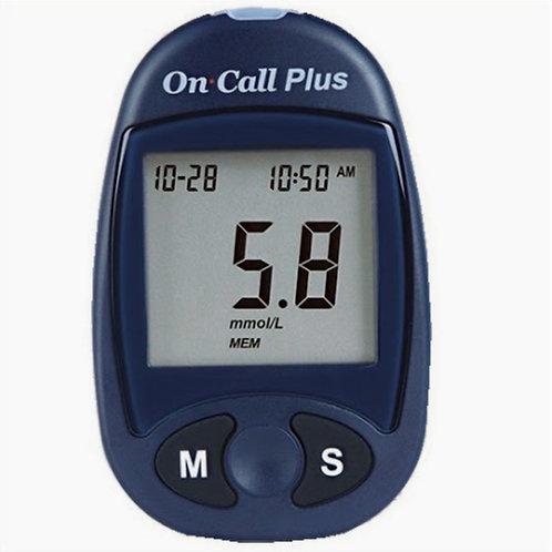 Glucómetro On Call Plus + 10 Tiras + 10 Lancetas (Made in USA)