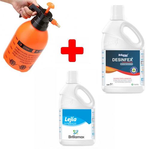 KIT Desinfectante + Pulverizador 3Lt + Desinfectante + Lejía