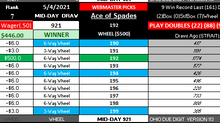 pickmythree OHIO BIG WM WINNER! MID-DAY 5-4-2021
