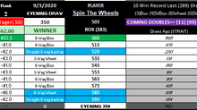WINNER! EVENING 9-3-2020