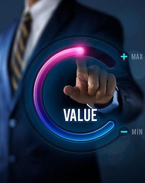 Growth value, increase value, value adde