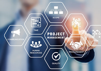 Presentation of project management areas