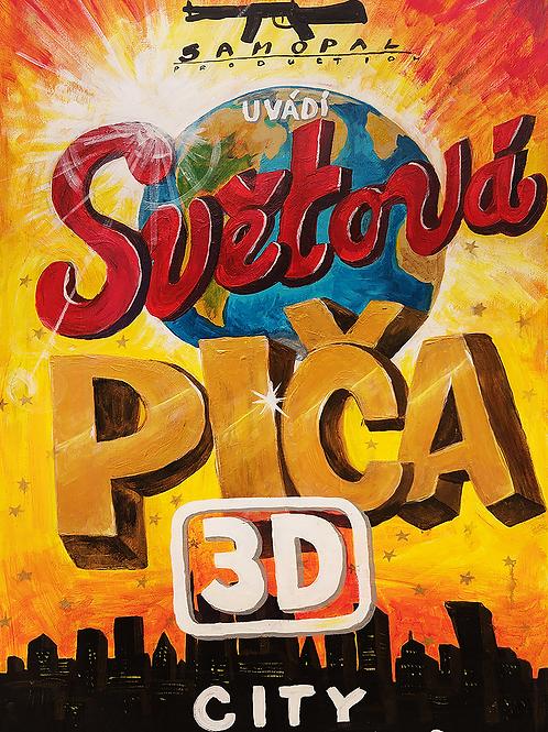 Světová PIČA 3D city - PLAKÁT A2